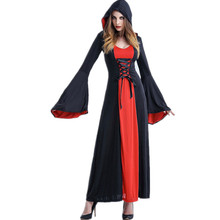 New Arrival Europe Court Dress Queen Red Disfraces Halloween Game Play Stage Cosplay Witch Outfit Vampire Costumes H169219