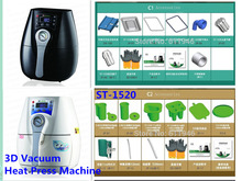 1SET ST-1520 3D Mini Sublimation Vacuum Machine Heat Press Machine For Phone Case / Cover Mug Cups Simplify
