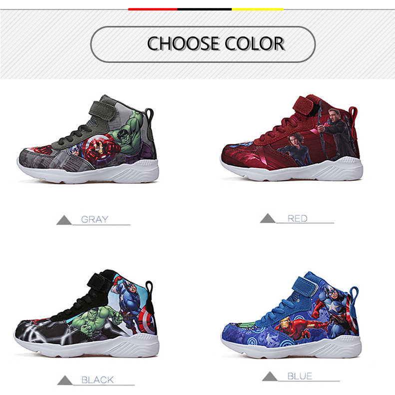Kids Sneakers For Boys Basketball Shoes Running The Avengers Baby Casual Children shoes Sport boot Cartoon gamin chaussure (3)