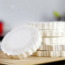 100pcs/lot White Round Lace Paper Doilies Doyleys Vintage Coasters Placemat Craft Wedding Christmas Table Decoration(China)