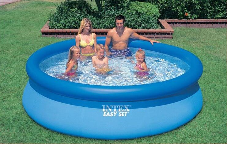 INTEX 56920 Butterfly inflatable pool 28120 AGP multiplayer pool 305 * 76 children Family Pool With hand pump(China)