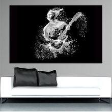 Large size Printing Oil Painting playing guitar Wall painting Decor Wall Art Picture For Living Room painting No Frame(China)