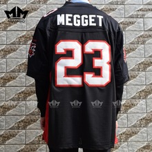 MM MASMIG The Longest Yard Earl MEGGET 23 MEAN MACHINE American Football Jersey Black