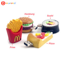 Funny usb pen drive 4GB 8GB 16GB 32GB 64gb Cute Sushi Pizza Fries Hamburg Shape USB Flash Drive pendrive chips Stick Pen Drive