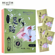 BEACUIR 100Patches Detox Foot Patch Bamboo Vinegar Pads Plant Quintessence Kits Improve Sleep Beauty Slimming Patch Foot Massage