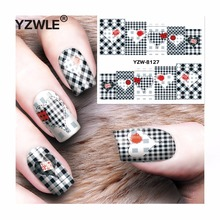 YZWLE 1 Sheet DIY Decals Nails Art Water Transfer Printing Stickers Accessories For Manicure Salon YZW-8127(China)