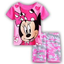 children's minnie mickey baby kids girls clothes nightwear pajamas for boys girls summer pyjamas sleepwear suit kids pajama sets