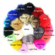 Furling 12pcs Pom Poms DIY Wholesale 10cm Soft Faux Fox Fur Pom Pom Ball for Knitting Hat Accessories Keychain Accessory(China)