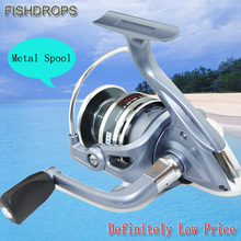 Promotion New Arrived 6 Ball Bearings 1000-5000 Fishing Reel Spinning Wheel Fishing Tackle Spinning Reel Carp Wheel Pesca