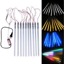 Hot Sale 10pc 2835SMD 30cm 360LED Waterproof Meteor Shower Rain Falling String Lights For Market Falling Lights Gardening