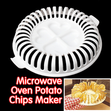 DIY Low Calories Microwave Oven Fat Free Potato Chips Maker Baking & Pastry Tools Chips Rack kitchen tools(China)