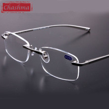 Chashma Alloy Reading Glasses Super Quality Rimless Prescription Glasses Frame Reading Glasses(China)