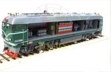 1/10 Scale Copper Chinese Dongfeng NO.4 Four II  0001 diesel locomotive Train orbital dynamic Long  Train Model