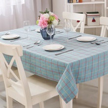 Tablecloth Linen Red and Yellow Plaid  Blue Rectangle Table Cover Design for Kitchen Suitable for All Seasons