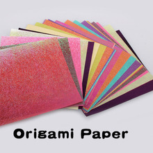 10 pcs/set Glitter Paper Sparkling Shiny Lucky Bird Boat Animal Star Colorful Origami