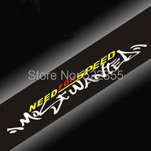 1 Pcs, NEED for SPEED Windshield Decal for car frond and back windshield,130CMx20CM,Free shipping Global trackbable