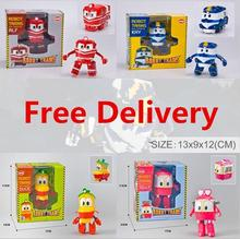 free shipping new style 2016 South Korea dynamic train family trains robot dynamic train toy for children gift