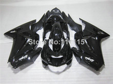 Fit for Kawasaki Ninja fairings 250r 2008- 2014 injection molding ZX250 08-14 all glossy black motorcycle fairing kit EX250 NZ21