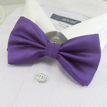 men's solid color bowties purple neck tie knots bow ties necktie butterflies