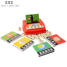 Children English Alphabet Puzzle Vocabulary Kids Learning Education Word Picture Match Game Learning Machine Letters Puzzle Box(China)