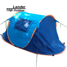 Automatic Pop UpTent 2 Persons Waterproof Camping Tent Instant Beach Shade Tents Portable Pop Up Beach Tent