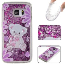 3D Dynamic Glitter Cover For Huawei P8 Lite P9 Lite Luxury Soft TPU Liquid Bling Phone Back Case For LG LS775