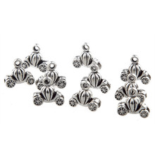 30pcs Car Shaped Beads Charms CINDERELLA PUMPKIN FAIRYTALE COACH 3D Tibetan Silver Alloy Pendant DIY Necklace Making