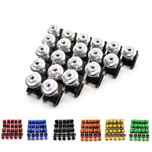 20PCS M6 Motorcycle Fairing Body Spring Bolts Nuts Spire Speed Fastener Clips Screw Scooters For Honda Yamaha Kawasaki Suzuki(China)