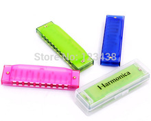 Hohner Kids Clearly Colorful Translucent Harmonica, Assorted Colors(China)