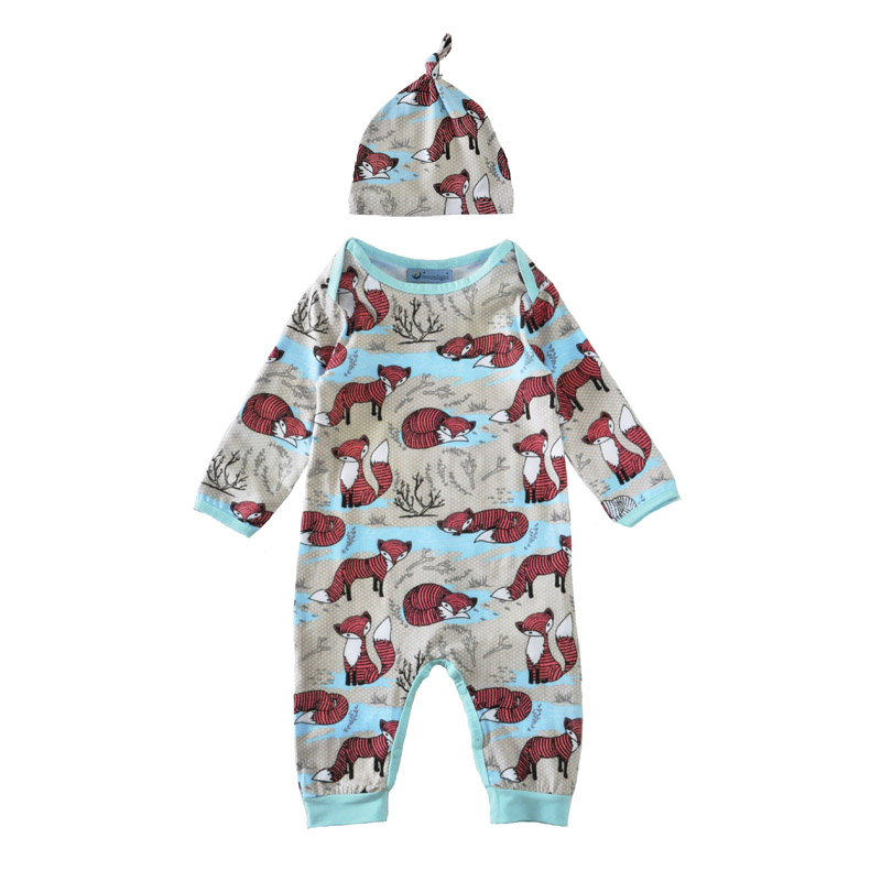 newborn romper jumpsuit long sleeve unisex cartoon animal boy girl rompers hat cap 2017 spring autumn cute fox kids baby clothes<br><br>Aliexpress