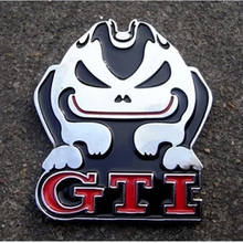 GTI Badge Evil Rabbit Car Rear Trunk Emblem for VW Jetta Polo Golf GTI Sticke