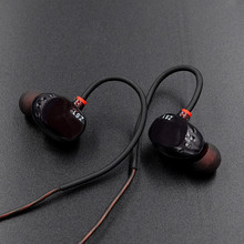 Double Dynamic Hifi Bass Earphone Original KZ ZS1 Two Unit Driver Headset Earplug Hifi Earbuds Mobiles Computer Earphones