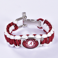 Alabama Crimson Tide Custom Paracord Bracelet NCAA College Football Charm Bracelet Survival Bracelet, Drop Shipping! 6Pcs/lot!