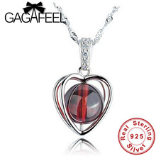 Natural Garnet pendant for lady Real Pure 925 sterling silver jewelry Wholesale beautiful Heart pendants for women YDZT-0075