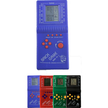 Childhood Retro Classic Tetris Handheld Game Player 2.7'' LCD Electronic GameToys Pocket Game Console Riddle Educational Toy(China)