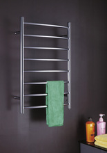 Electric Heated Towel Rail Concealed/Exposed Wiring Hot Towel Warmer Curved Towel Rack HZ-RC4(China)