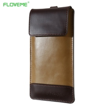 FLOVEME Universal PU Leather Phone Case 5.5 4.7 Inch Bag For iPhone 7 6 6s Plus Cases For Samsung S7 S6 S5 Edge Capa Accessories(China)