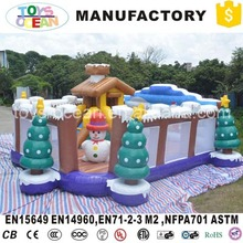 Christmas theme inflatable santa claus bounce playground for outdoor children used