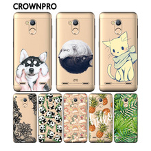 CROWNPRO Soft Silicone TPU ZTE Blade V7 Lite Case Cover Phone Painted Funda Back Cases - Global Green Digital Parts Store store