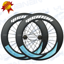 track carbon wheelset triathlon bicycle carbon wheels lighting carbon wheels clincher 88mm with powerway r13 hub weight 1790g