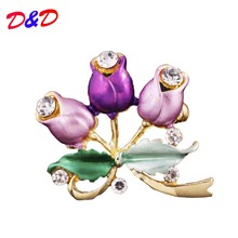 Brooches Broche Pin 2017 Ruili Magazine Korean Version Of The Painting Three Roses Blooming Brooch Manufacturers Supply For(China)