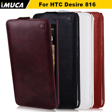 IMUCA for htc desire 816 800 D816W cases covers Flip Coque black bag Case Cover For htc desire 816 Original mobile phone Cases