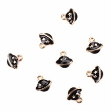 Buy 10pcs/lot 13*13.5mm Exquisite UFO alien spacecraft Pendant Charms Jewelry Accessories Fit DIY Jewelry Making for $2.24 in AliExpress store