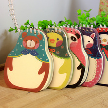1PACK/LOT Cartoon Cute Russia Animal Doll series Mini Coil notebook Korea style Diary pocket book(China)