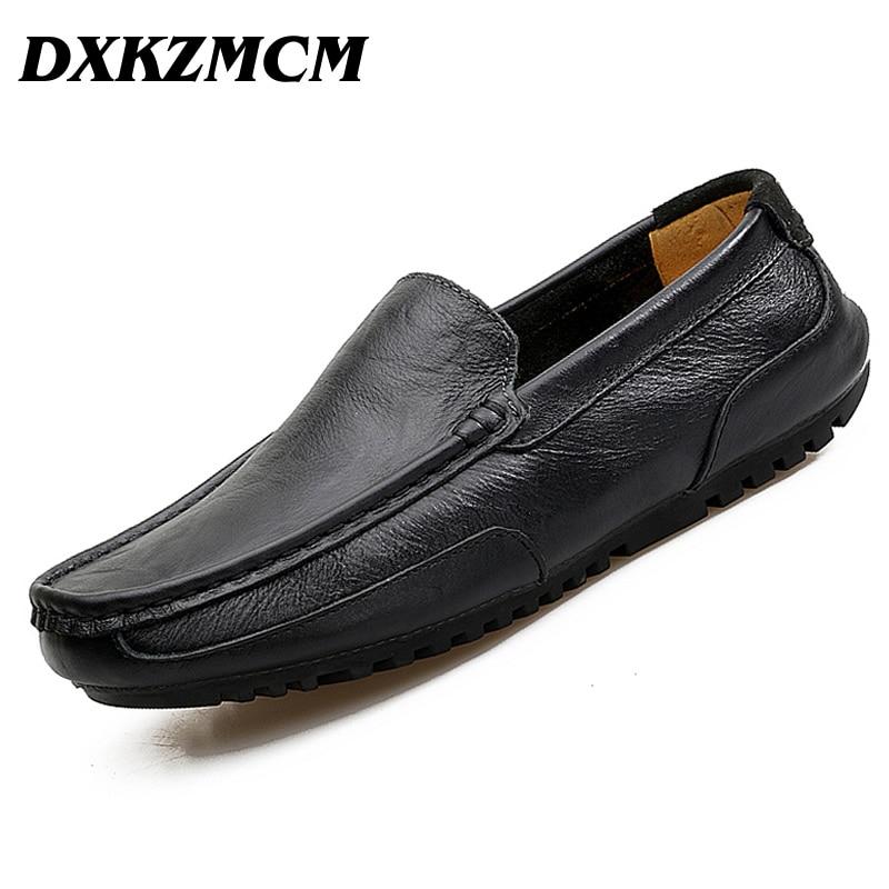 DXKZMCM 2017  Split Leather High Quality Men Casual Shoes Moccasins Shoes Flat Loafers Men Shoes<br>