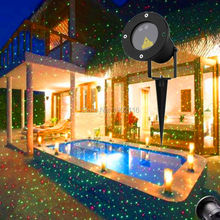 Free shipping Outdoor Garden Decoration Waterproof Laser Light, IP68 Laser Star Projector Showers Christmas Lights party light