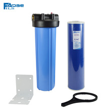 High Quality! Whole House Jumbo Water Filter with 4.5in. x 20in. GAC Filter/Mounting Bracket/Wrench/Screw,1in. brass insert
