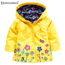 2017 Girls Jacket Children New Coat Hooded Children Casual Sweatshirts Zipper Jackets For Girls Waterproof Raincoat Kids Clothes