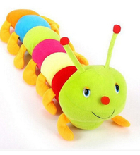 Colorful caterpillar centipede big insect doll Valentine 's Day gift plush toys