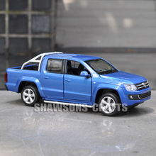 DIECAST METAL 1:30 CAR MODEL TOYS PULL BACK VOLKSWAGEN AMAROK REPLICA SOUND LIGHT(China)